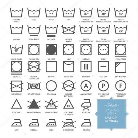 sertie de ligne lavage linge symboles et ic 244 nes image vectorielle 97130418