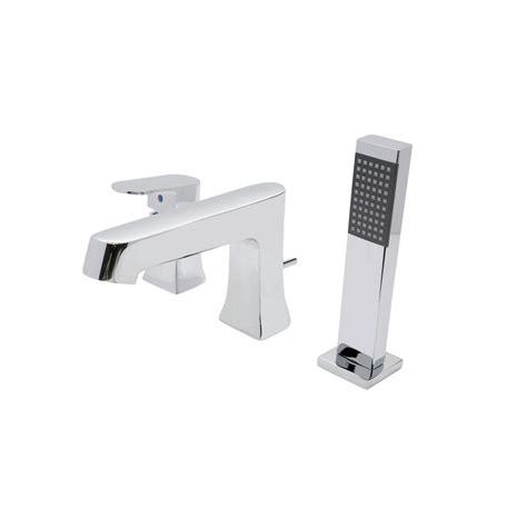 bathtub faucet single handle anzzi rin series single handle deck mount tub faucet