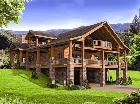 Mountain House Plan With Huge Wraparound Porch 35544gh