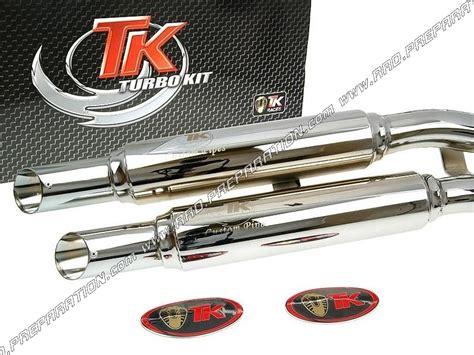 pot d 233 chappement turbokit tk custom pour moto honda shadow 125cc 4t a partir de 2008 www rrd