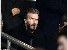 David Beckham and Sir Alex Ferguson among the crowd as