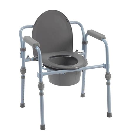 bedside commode potty chair handicap toilet seat with safety frame ebay