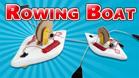 How To Make A Toy Boat Youtube by How To Make A Toy Rowing Boat Electric Boat Youtube