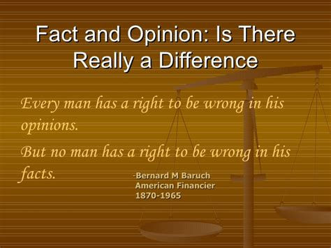 Separating Fact From Opinion