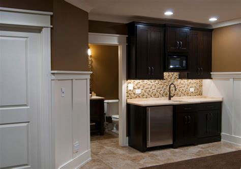 Kitchen Wall Color Ideas With Cherry Cabinets by 45 Basement Kitchenette Ideas To Help You Entertain In