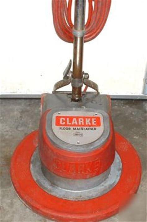 clarke fm 2000 floor maintainer buffer polisher sander