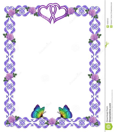 guindineaux de roses de cadre d invitation de mariage photographie stock image 10560152