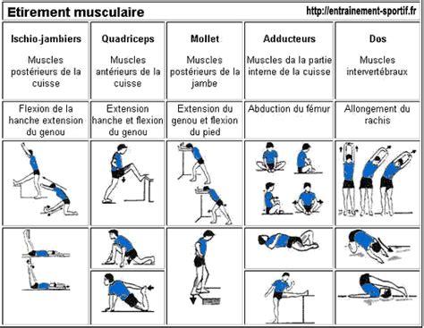 201 chauffement en sport etirements musculaires entrainement sportif fr et les 233 tirements