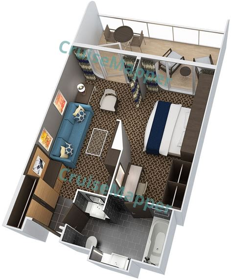 anthem of the seas cabins and suites cruisemapper