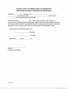 Corporate Resolution To Sell Real Estate (GET TEMPLATE)