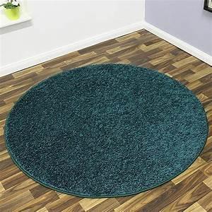Teppich Rund 200 : shaggy hochflor teppich mistral rund 133cm oder 200cm petrol 101850 ebay ~ Markanthonyermac.com Haus und Dekorationen