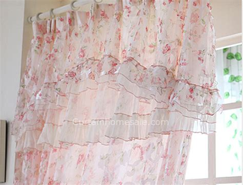 Beautiful Floral Pattern Elegant Lace Sheer Panels Shabby Chic Curtain How Long Is A Shower Curtain Rod Argos Lined Curtains Battenburg Lace Vistawall Wall White Ruffled For Nursery Marks And Spencer Poles Bead Canada Track Clips