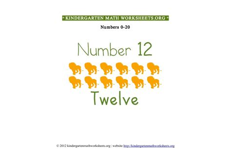 Kindergarten Math Numbers 020  Kindergarten Math Worksheets Org