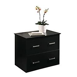 officemax black finish 2 drawer lateral file cabinet by