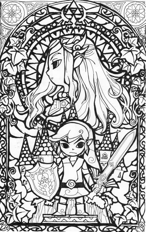 Zelda Coloring page   I'm a Dork   Pinterest