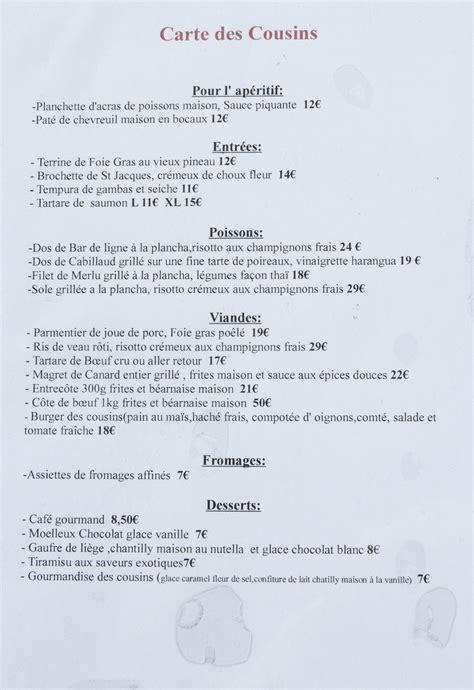 file restaurant l atelier des cousins carte 2013 1 jpg wikimedia commons