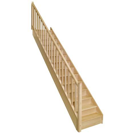 escalier droit soft classic structure bois marche bois leroy merlin