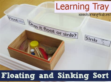 Floating And Sinking Science Activity  Learning 4 Kids