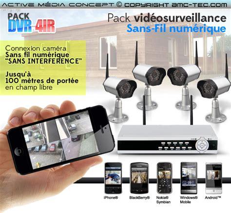 pack dvr 4ir kit vid 233 osurveillance sans fil num 233 rique 4 233 ras infrarouges avec enregistreur