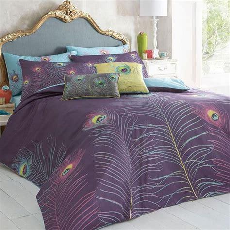 purple peacock bedding set duvet covers pillow cases