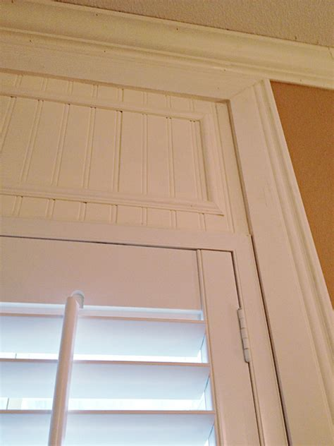 how to add trim to make your shutters reach the ceiling