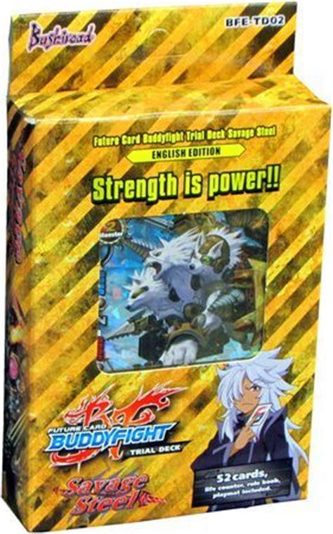 trial deck 2 savage steel starter deck future card
