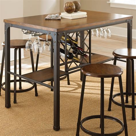 Steve Silver Rebecca Wine Storage Counter Height Dining. Entry Room Table. Build Corner Desk. Desks For Kids Room. Reclaimed Wood Dining Tables. Table Top Banners. Minimalist Desk Chair. L Shaped Desk With Right Return. Wooden Lateral File Cabinets 2 Drawer