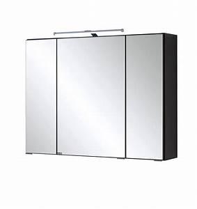 Spiegelschrank Aufbauleuchte Bad : bad spiegelschrank 3 t rig mit led aufbauleuchte 80 cm breit graphitgrau bad bologna ~ Markanthonyermac.com Haus und Dekorationen