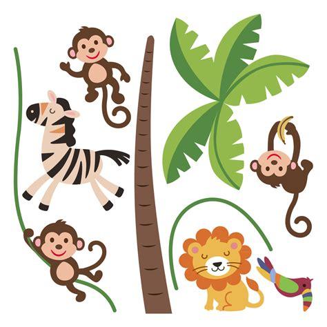 stickers muraux animaux sticker jungle heureux ambiance sticker