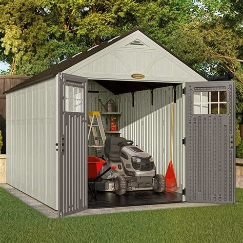 suncast tremont two apex shed w8ft x d13ft on sale fast delivery greenfingers