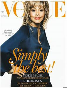 Tina Turner Vogue Germany Cover, Singer's First Time ...
