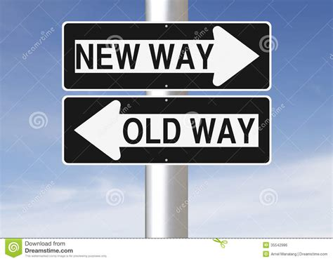 New Way Versus Old Way Stock Photo Image Of Start, Making