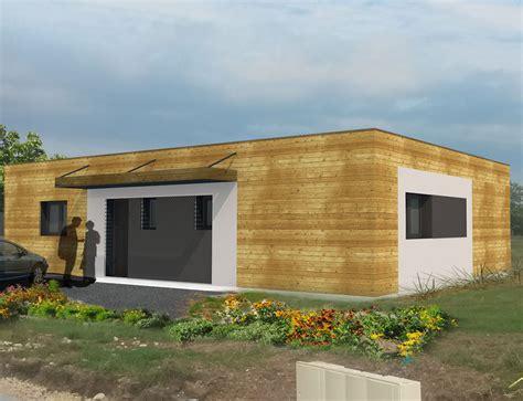 maison moderne a toit plat et ossature bois nos projets maison plain pied