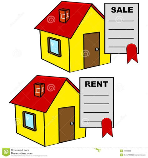 House For Sale And For Rent Stock Illustration Image
