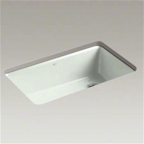 kohler k 5871 5ua3 ff riverby single bowl undermount kitchen sink with accessories sea salt