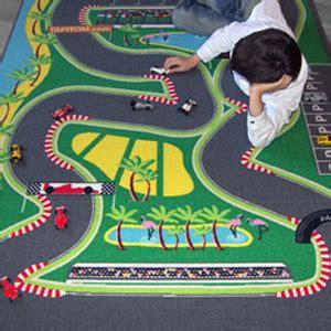 tapitom 174 tapis de jeu circuit de voiture pour enfant f1 130 x 200 cm