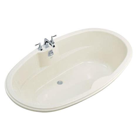 45 ft drop in bathtub kohler proflex 6 ft center drain drop in oval bathtub in