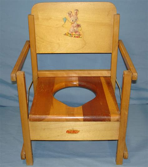 vintage oak hill childs wood folding potty chair seat vintage toys for sale item