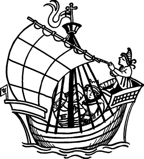 Medieval Boat Drawing by Fronela Turns