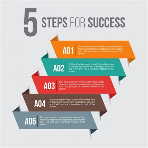Five Steps For Success Vector  Free Download