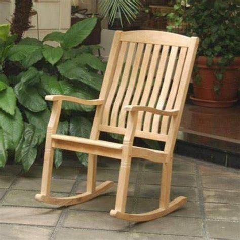 new large teak wood rocker outdoor furniture rocking chair ebay