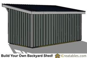 10x20 run in shed plans with wood foundation