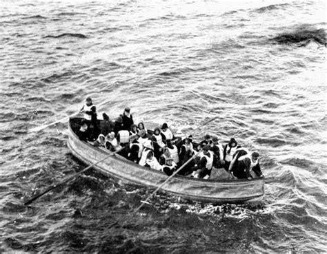 Titanic Collapsible Boat A by Photograph Titanic Survivors In Collapsible Lifeboat D