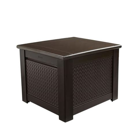 Rubbermaid Deck Box Home Depot by Rubbermaid 56 Gal Chic Basket Weave Patio Storage Cube