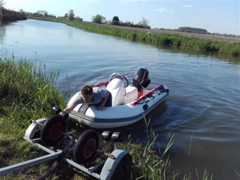 Boot Met Trailer En Motor by Rubberboot Met Motor Suzuki 9 9 Pk En Trailer
