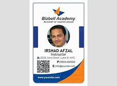 Employee Id Card Template For Ms Word Corporate Psd