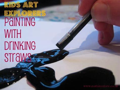 Kids Art With Drinking Straws