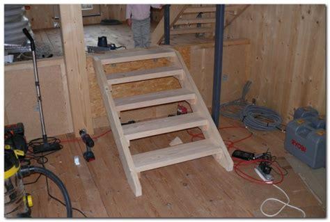 escaliers provisoire la suite le de la calougeotte