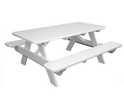 6' Polywood Picnic Table W Attached Benches