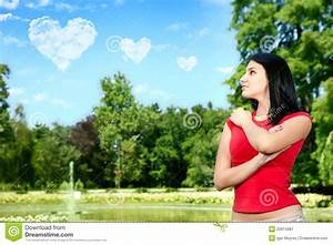 Young woman in love stock image. Image of loving, outdoor ...